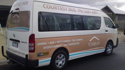 Bus signwriting Geelong and Torquay